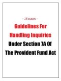 Guidelines for handling inquiries under the PF Act